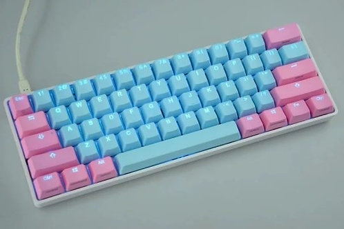 61 Keys Poker PBT Transparent keycaps