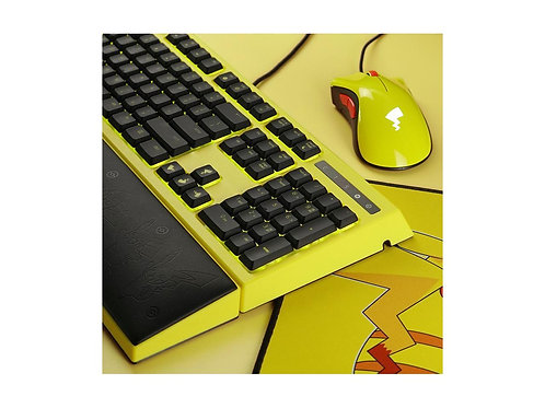 Razer Pikachu Edition Ornata Keyboard with Deathadder Mouse and Mousepad