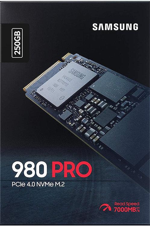 SAMSUNG 980 PRO 250GB PCIe NVMe Gen4 Internal Gaming SSD M.2