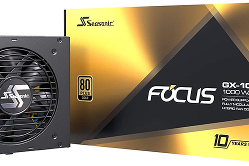 Seasonic Focus GX 1000W 80+ Gold 10 Years Warranty