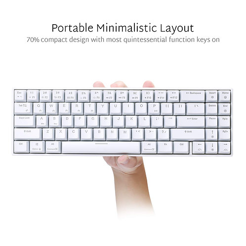 RK 71 Pro Mechanical Keyboard Black or White ( Cherry MX Blue or Red )