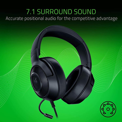 Razer Kraken X Lite Ultralight Gaming Headset 7.1 Surround Sound - Lightweight A