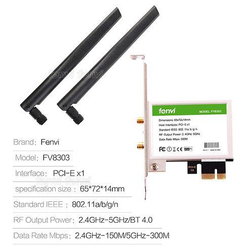 Fenvi 8303 Wifi 300Mbps BT 4.0 PCIe Adaptor