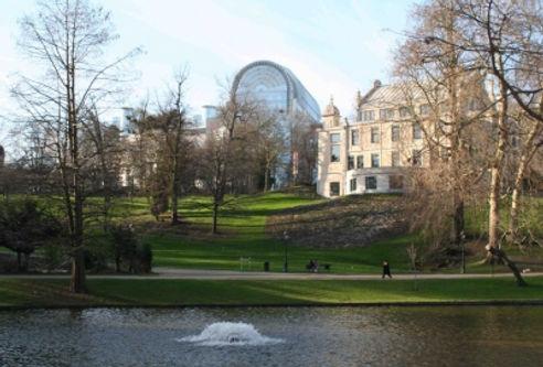 Parc Léopold, Vue sur le Parlement EU