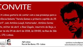 Convite da AJA LISBOA para o evento de 24 abril 2018 às 19H00