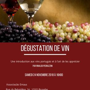 PROVA DE VINHOS Portugueses/ Dégustation de vins portugais