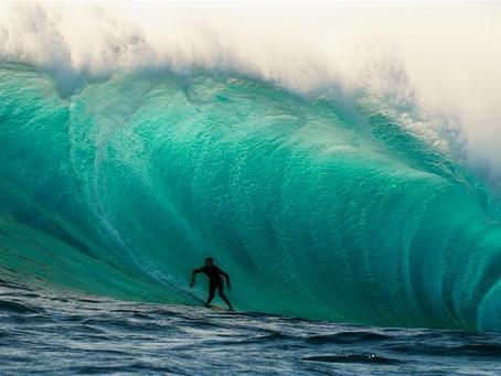Una de las olas más potentes