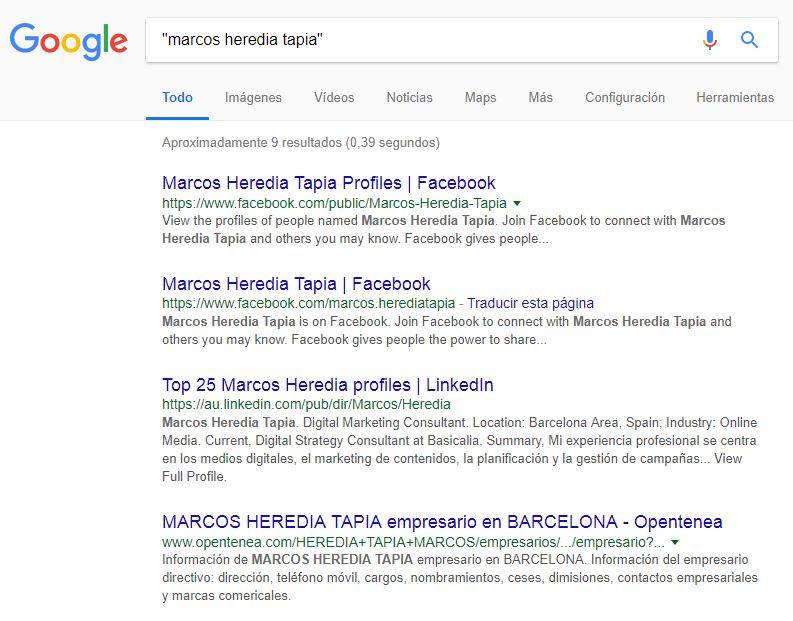 """Resultado de la búsqueda """"Marcos Heredia Tapia"""""""
