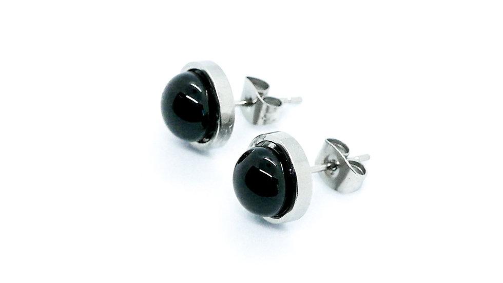 Biborlabor Fekete Fülbevalók (Black Earrings)