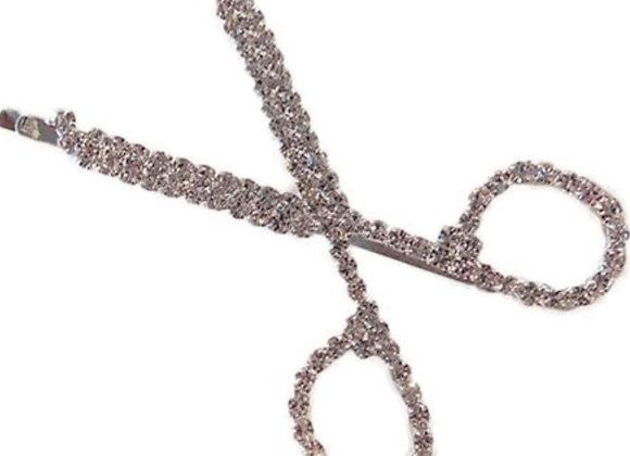 Scissors Rhinestone Hair Clip