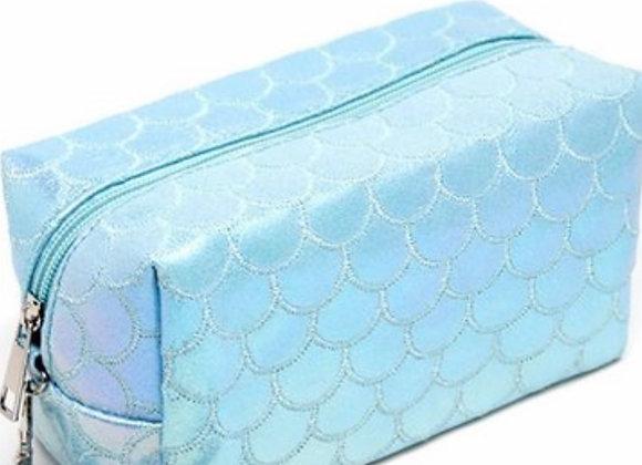 Blue cosmetics bag