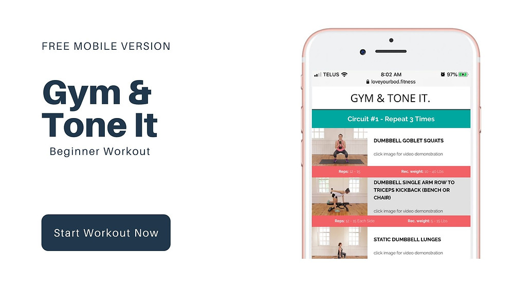Free Beginner Workout on Your Mobile