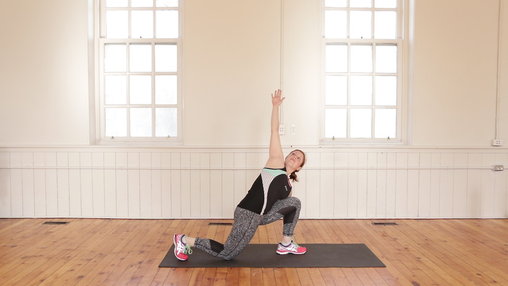Reverse Lunge with Warrior Twist Exercise