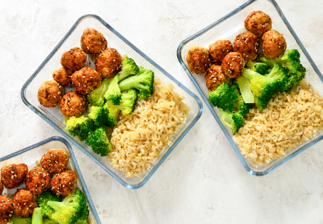Turkey Asian Meatballs Meal Prep