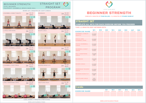 Beginner Strength Training Program Printable PDF