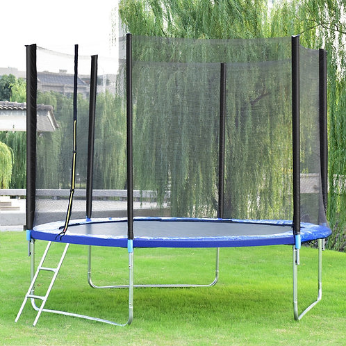 Bounce Jump Safety Trampoline with Spring Pad Ladder