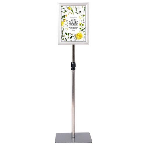 """8.5"""" x 11"""" Aluminum Adjustable Pedestal Poster Stand Holder"""