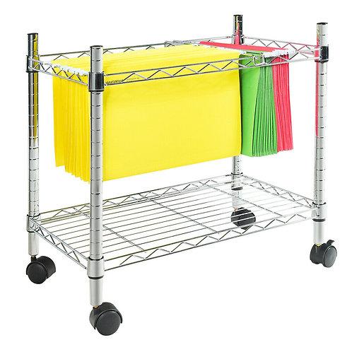 Metal Rolling File Cart for Folder Storage