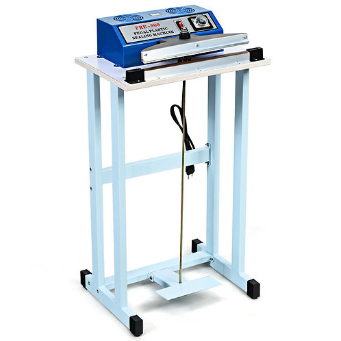 """110V 12"""" Foot Pedal Impulse Sealer Machine with Cutter"""