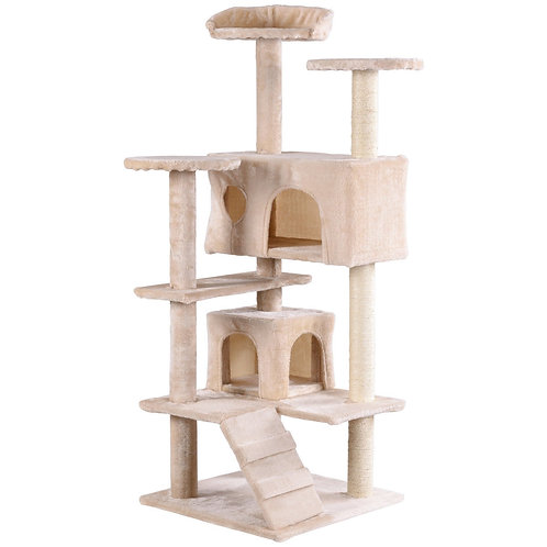 """52"""" Cat Scratching Post and Ladder Kitten Tower Tree"""
