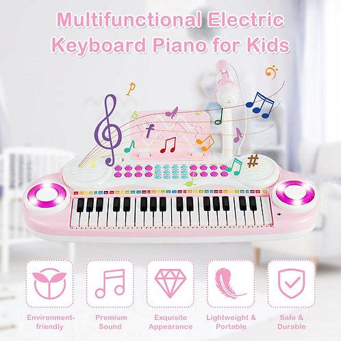 Electric Keyboard Piano w/ Microphone
