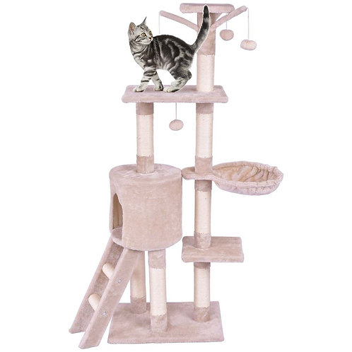 """56"""" Condo Scratching Posts Ladder Cat Play Tree"""