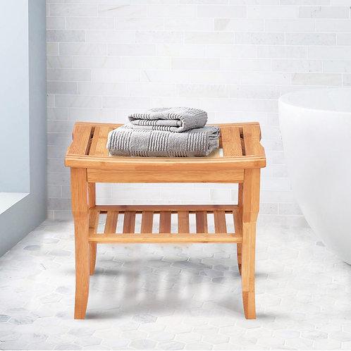 Shower Bench with Storage Shelf