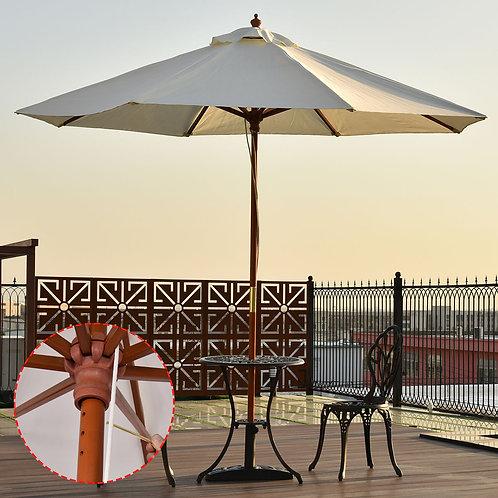 Adjustable Wooden Outdoor Umbrella Sunshade
