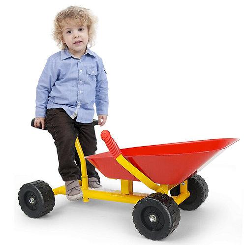 """8"""" Heavy Duty Kids Ride-on Sand Dumper with 4 Wheels"""