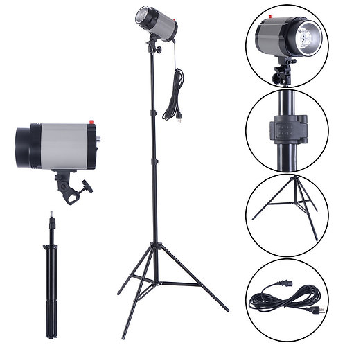 Flash Lamp Holder Set with Light Stand