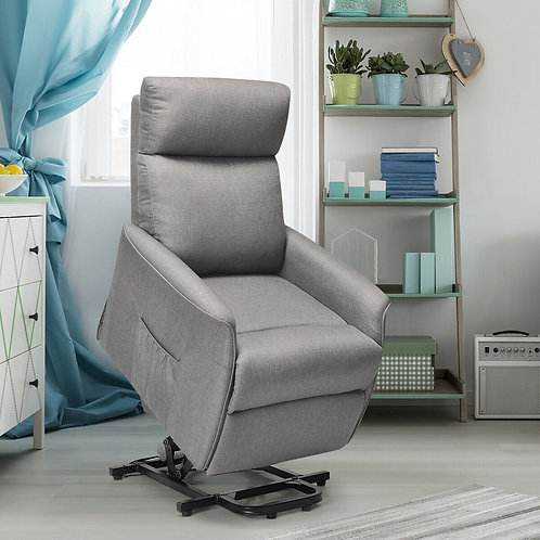 Fabric Padded Lift Massage Chair Recliner Sofa (Electric Power)