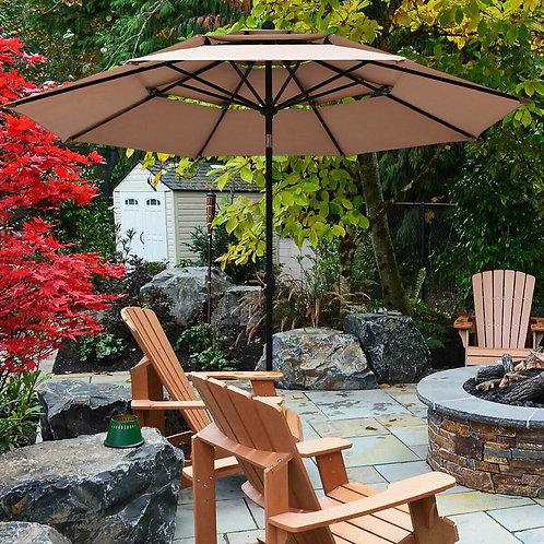 Patio Umbrella Aluminum Sunshade Shelter (Double Vented)