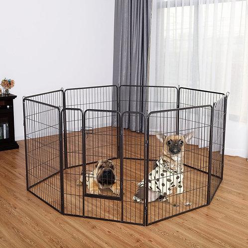 "40"" 8 Metal Panel Heavy Duty Pet Playpen Dog Fence"
