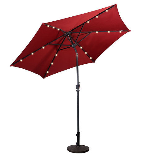 Patio-Supported Solar Umbrella with Crank (9-inch)
