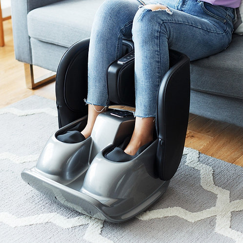 Foldable Foot Massager w/ Rolling Air Compression