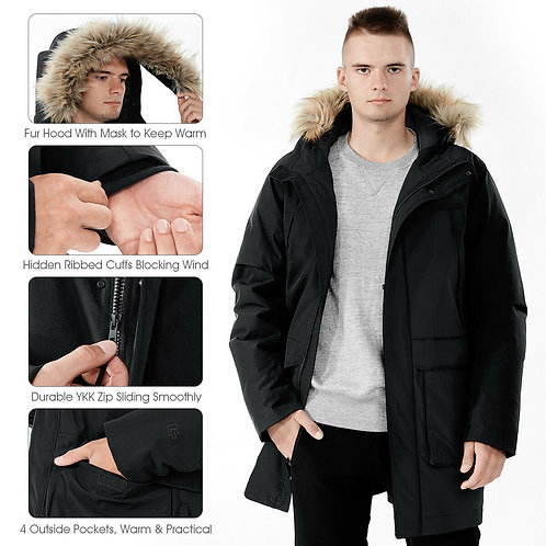 Men's Hooded Insulated Winter Coat