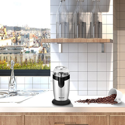 Electric One - Touch Stainless Steel Coffee & Spice Grinder