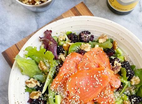 Leah's Mixed Green & Smoked Salmon Salad
