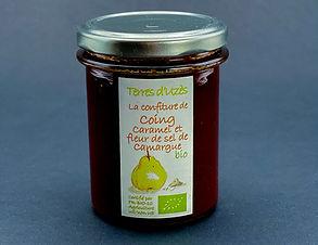 Confiture de coing caramel et fleur de sel de Camargue bio 200g - Terres d'Uzès