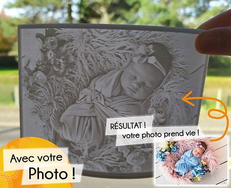 Lantana Création - LITHOPHANIE 3D - LAMPE INCURVÉE 10 X 15 CM