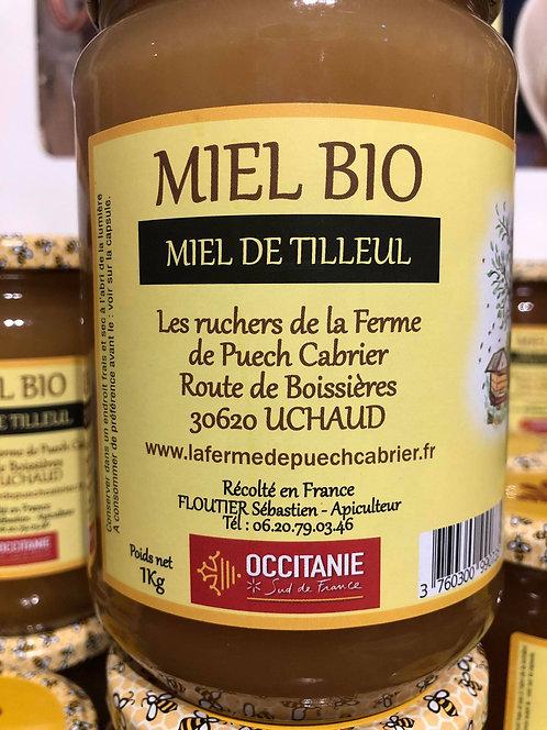 Les Ruchers de la Ferme de Puech Cabrier - Miel de Tilleul 1kg