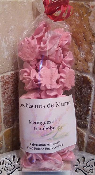 Biscuiterie de Mumu - Meringues a la framboise 70g