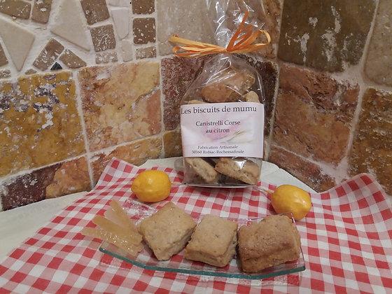 Biscuiterie de Mumu -  Canistrelli Corse au citron 150g
