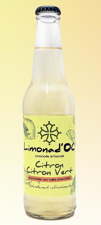 Limonad'Oc - Limonade artisanale Citron Citron Vert  33cl