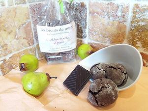 Crinkles poire chocolat - Les Biscuits de Mumu