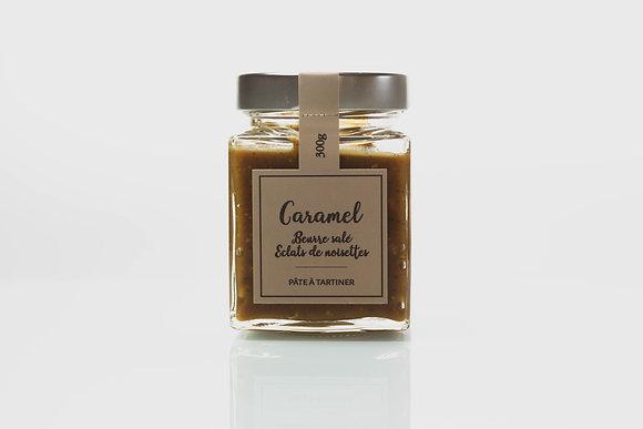 Nougaterie Des Fumades - Pâte à tartiner Caramel éclats noisettes  300g