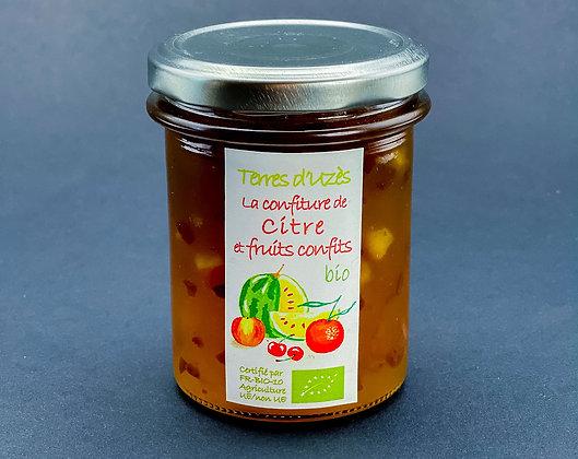 Confiture de citre et fruits confits bio - Terre d'Uzès