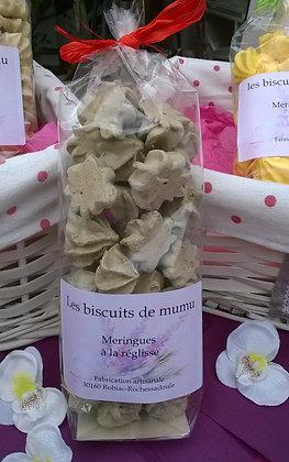 Biscuiterie de Mumu - Meringues à la réglisse 70g
