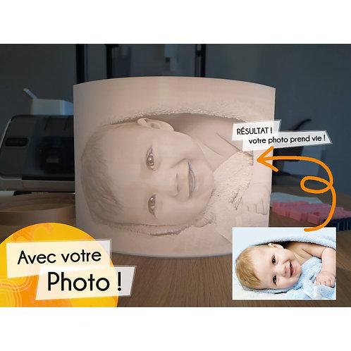 Lantana Création - LITHOPHANIE 3D - LAMPE INCURVÉE 15 X 21 CM