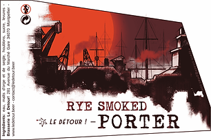 Rye Smoked Porter (Blonde) 33cl - Le Détour !